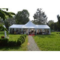 High Peak Top White Canvas Marquee Party Tent For Wedding Reception Waterproof for sale