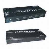China HDMI Splitters with Aluminum Casing, Support HDCP-compliant Devices and DVI Specification 1.0 for sale