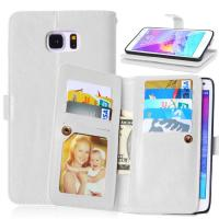 Quality Samsung Galaxy Note3 Note4 Note5 Wallet Case Retro Cover Bags Pouch 9 Cards Slot Holder for sale