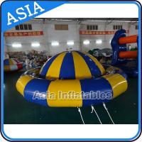 Quality Giant Water Floating Inflatable Saturn Rocker / Inflatable Water Disco Boat for sale