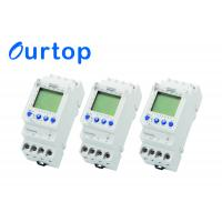 Quality Programmable 7 Day 2 Channel Digital Timer , Din Rail LCD Timer Switch 250VAC for sale