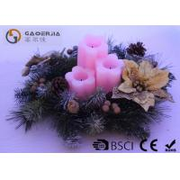Quality 3pk Flower Shaped Decorative Led Candles Fake Wick With CE / ROHS for sale