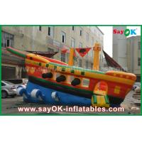 Quality Yellow / Red / Blue Inflatable Pirate Ship Commercial Advertising Castle Bounce House for sale