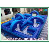 Quality Amusement Park Inflatable Playground 750w Blower 0.5mm PVC Eco-friendly for sale