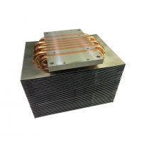 Quality 6 Piece Copper Heat Pipe Heatsink Two Rows Fins with Antioxidant Treatment for sale