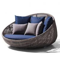 New Design PE Rattan Outdoor wicker Furniture Patio Garden Furniture Sofa Bed for sale