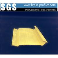 China New Decorative  Extrusion Brass Window Channel Customized Profiles on sale
