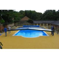 Quality Swimming Pool Rubber Flooring , Corrosion Resistant Rubber Pellet Flooring for sale