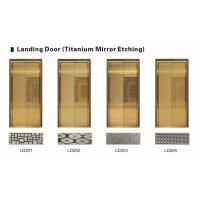 Quality Strong Elevator Spare Parts Golden Stainless Steel Elevator Doors Customized Decoration for sale