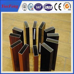 Quality Aluminium profile wood color , OEM design 6063 grade aluminium triangle tube allibaba com for sale