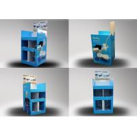Buy Blue Five Separate Area Corrugated Board Pallet Display Dtand at wholesale prices