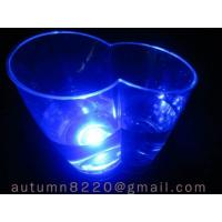 Quality decorated LED blue light ice buckets for sale