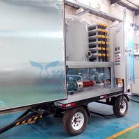 Trolley Type Mobile Double Stage Vacuum Transformer Oil Dehydration Plant for sale