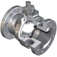 Pneumatic actuated stainless steel flanged ball valve for sale
