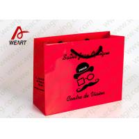 Quality Glass Matt Medium Art Paper Bags With White PP Rope 35 X 12 X 30cm for sale