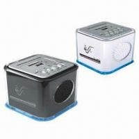 Quality SD/MMC and USB Card Reader Speakers with FM Radio for sale