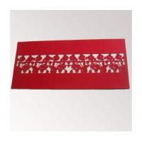 Quality Laser cut felt table cloth/table runner for sale