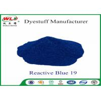 Quality Environmental Friendly Dye Powder Reactive Brill Blue WRE C I Blue 19 100% Strength for sale