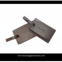 Quality Hot export high quality leather material id card luggage tag/PU luggage tag for sale