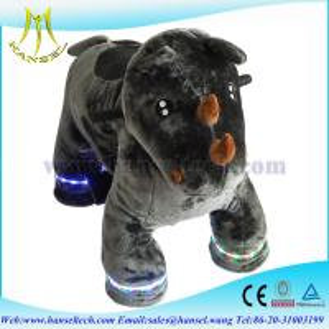 Quality Hansel animal kiddie rides motorized animals stuffed for sale