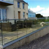 Quality America installing glass balustrades for outdoor decking for sale