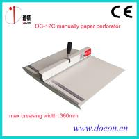 Buy DC-12C manually paper perforating machine at wholesale prices