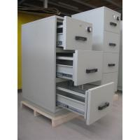 Quality Grey Steel 4 Drawers Fire Resistant Filing Cabinets For Valuable Records / Documents for sale
