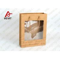 Quality Transparent PVC Eco Friendly Promotional Paper Bags Advertising Use for sale
