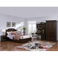 Quality American Leisure Antique Design Single bedroom furniture Small bed with writing Desk and Bookcase and 2 door wardrobe for sale