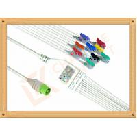 Quality Green NEC One Piece Ecg Accessories Cable10 Lead Clip AHA Durable PU Material Cable for sale