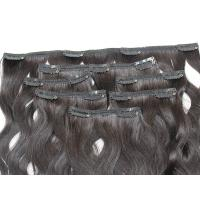 Quality Comb Easily Clip In Natural Hair Extensions , 8A Blonde Clip In Hair Extensions for sale