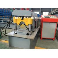 Quality Ridge Cap Roof Tile Roll Forming Machine / Metal Roof Profile Camber for sale