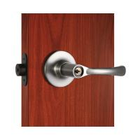 Quality Polished Security Tubular Lock Set Satin Nickel Lever Handle for sale