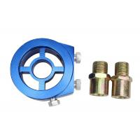 China Aluminum Racing Car Oil Pressure Gauge , Blue Oil Filter Sandwich Adapter on sale