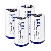 Quality Eco-friendly 3V CR123A Lithium Battery 1600mah 4 Packs with Battery Case for sale