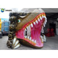 Quality Vivid Dinosaur 5D Movie Theater With Red Luxury Chairs , Genuine Leather Fiberglass for sale