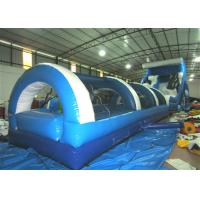 Big Party Commercial Inflatable Water Slides 16 X 3.6 X 6m Silk Printing Safe Nontoxic