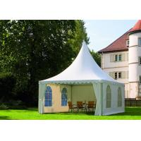 China Aluminum Frame Outside Gazebo Tent , Outside Party Tents With White Window Walls for sale