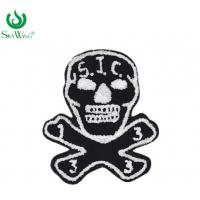 Quality Sweater Shirt  Skull Chenille Embroidery Patches Eco - Friendly for sale