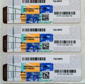 Online Activation Microsoft Windows 8.1 Professional COA License Sticker For 1PC