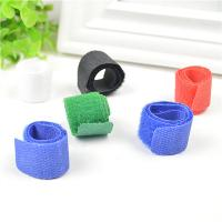 Quality Blue / Black / Green Cord Management Straps Adhesive Cable Clamps For Wire for sale
