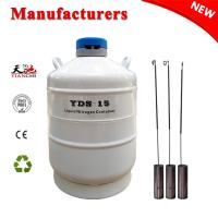 Biological liquid nitrogen tank 15 L animal semen storage container for sale
