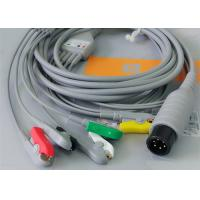 5 Leads Ecg Snap Medical Cable , Medical Equipment / Medical Device Accessories for sale