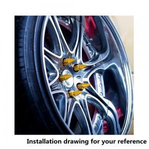 Buy Rainbow Aluminum Wheel Lug Nuts For Trucks , P1.25 Locking Wheel Nut Key at wholesale prices