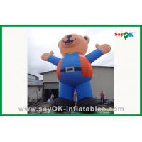 Quality 210D Oxford Cloth Inflatable Cartoon Characters Inflatable Cartoon Bear for sale
