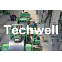 Quality Metal Cutting / Steel Metal Cut To Length Machine Line With Uncoiler Leveling Cutting for sale