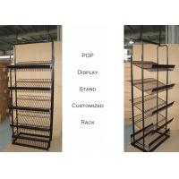 China Light Duty Commercial Metal Wire Display Racks With Mulitple Shelves KD Structure on sale