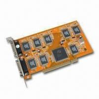 Quality DVR PCI Video Card, Supports Plug-and-play Function and PAL/NTSC for sale