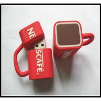Quality wholesale OEMNovelty Coffee Cup Usb Flash Drives, pvc usb flash drive rubber usb chip for sale