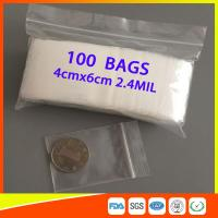 Buy Reusable Clear Zip Top Plastic Bags , Waterproof Small Ziplock Bags For Jewelry at wholesale prices